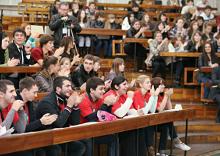 Под Москвой проходит Всероссийская школа-семинар «Стипком— 2013», где студенты из 150 вузов России обучаются грамотно распределять стипендии.