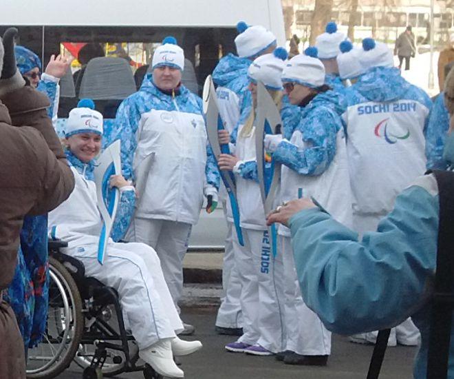 Эстафета Параолимпийского огня в Самаре