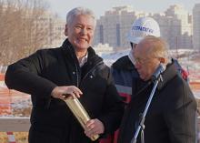 На Ломоносовском проспекте в Москве заложено здание большого общежития для студентов МГУ на 5 тысяч мест.